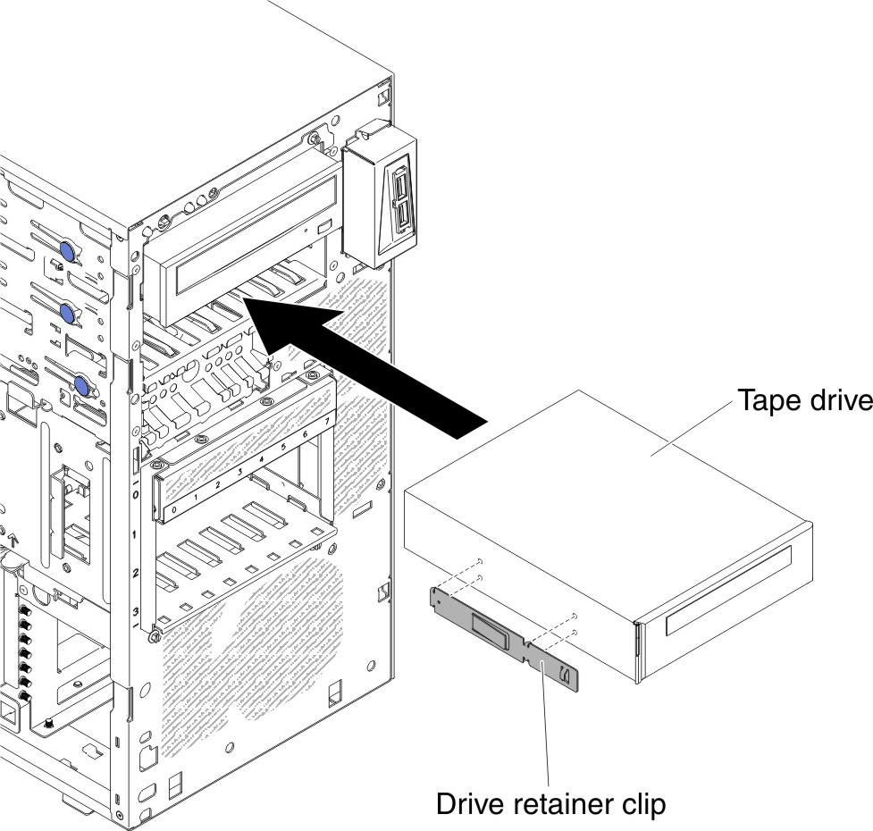 replacing the tape drive