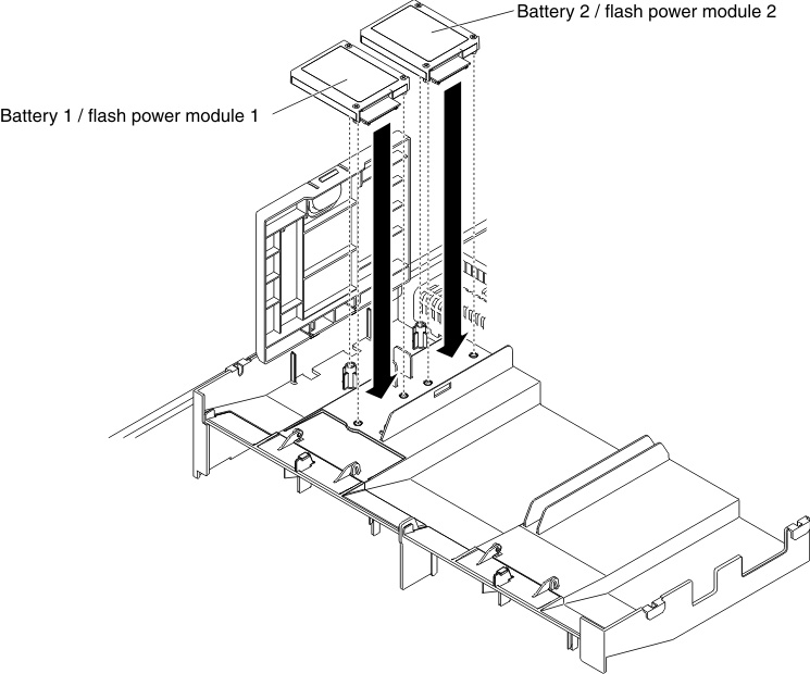 Installing A Raid Adapter Battery Or Flash Power Module