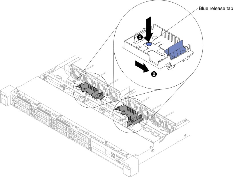 Removing A Raid Adapter Battery Or Flash Power Module Holder