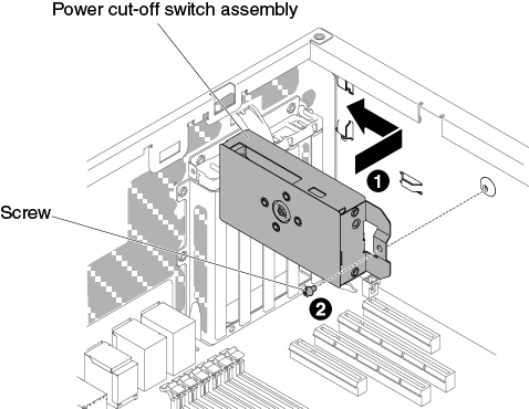 installing the left-side cover/power cut-off switch assembly