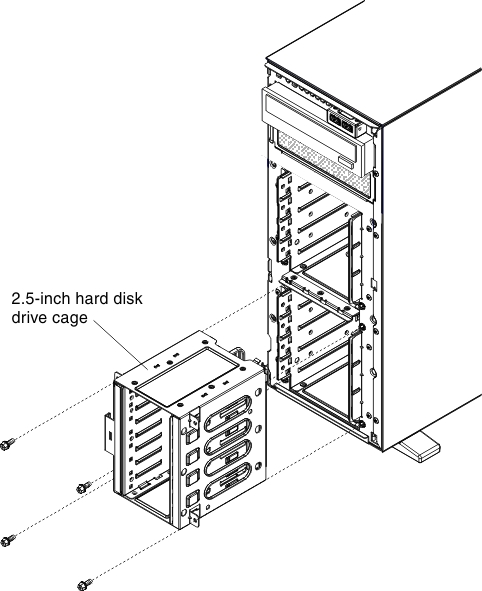 replacing a sas sata hdd option lenovo system x3300 m4 USB 2.0 Cable Diagram align the 2 5 inch hard disk drive cage with the chassis and install it in the server