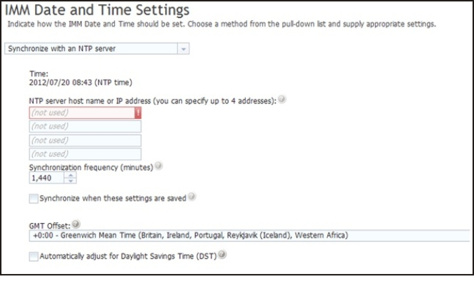 Setting the IMM2 date and time - Integrated Management Module II