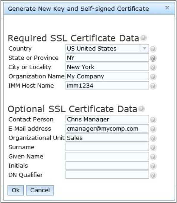 SSL certificate management - Integrated Management Module II