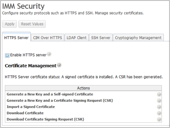 Configuring HTTPS protocol - Integrated Management Module II