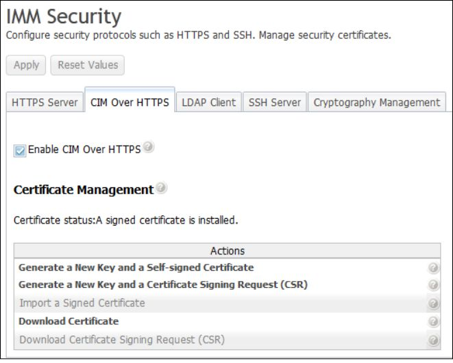 Configuring CIM over HTTPS protocol - Integrated Management Module II